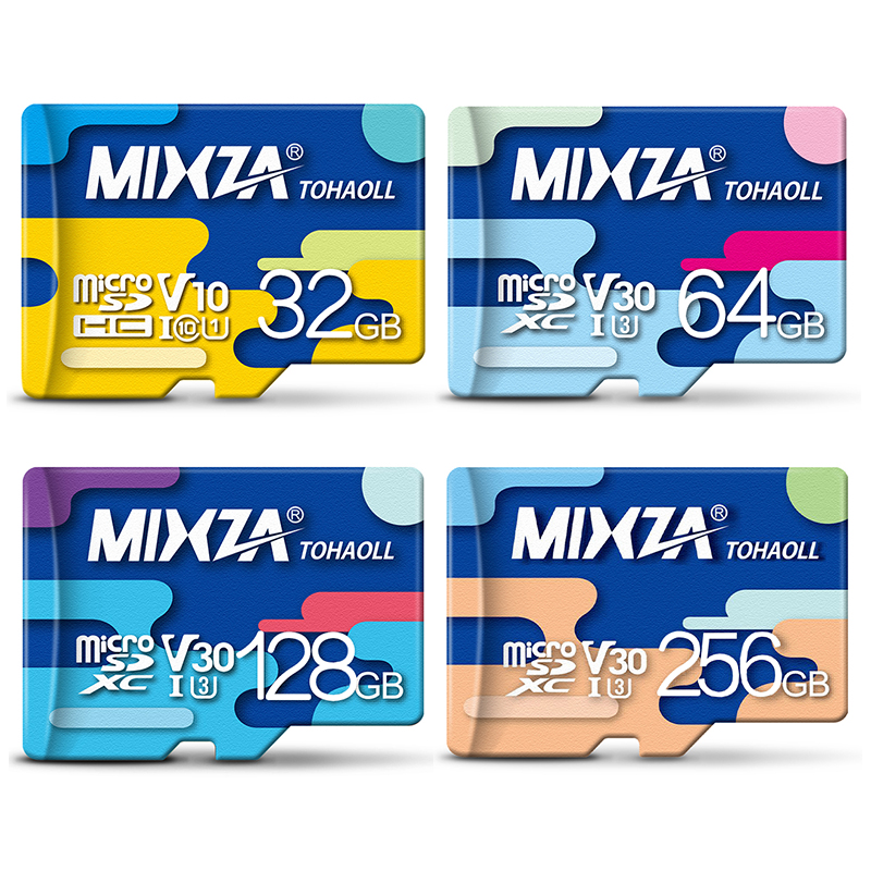 MIXZA <font><b>Memory</b></font> Card 256GB 128GB 64GB U3 80MB/S 32GB Micro sd card Class10 UHS-1 flash card <font><b>Memory</b></font> Microsd TF/SD Cards for Tablet