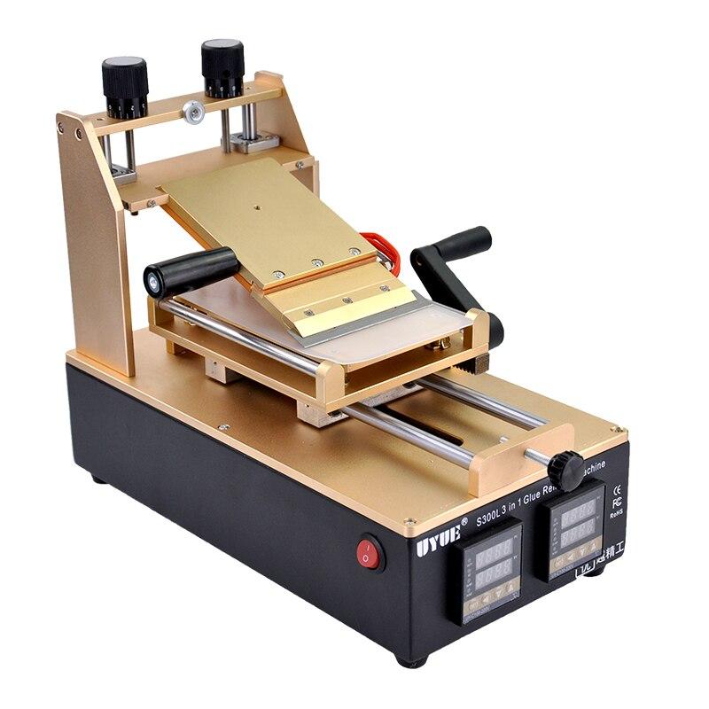 UYUE S300L 3 in 1 High Quaility Screen Separator Machine Remove Glue Heating Table 946d screen separator with accessories uv glue uv lamp moulds etc glue remove machine