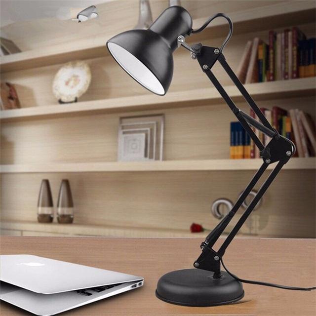 Novo LED E27 quarto dormitório dormitório escritório trabalho de estudo do Aluno braço dobrável clipe luzes da noite candeeiro de mesa de estudo mesa de livro lâmpadas