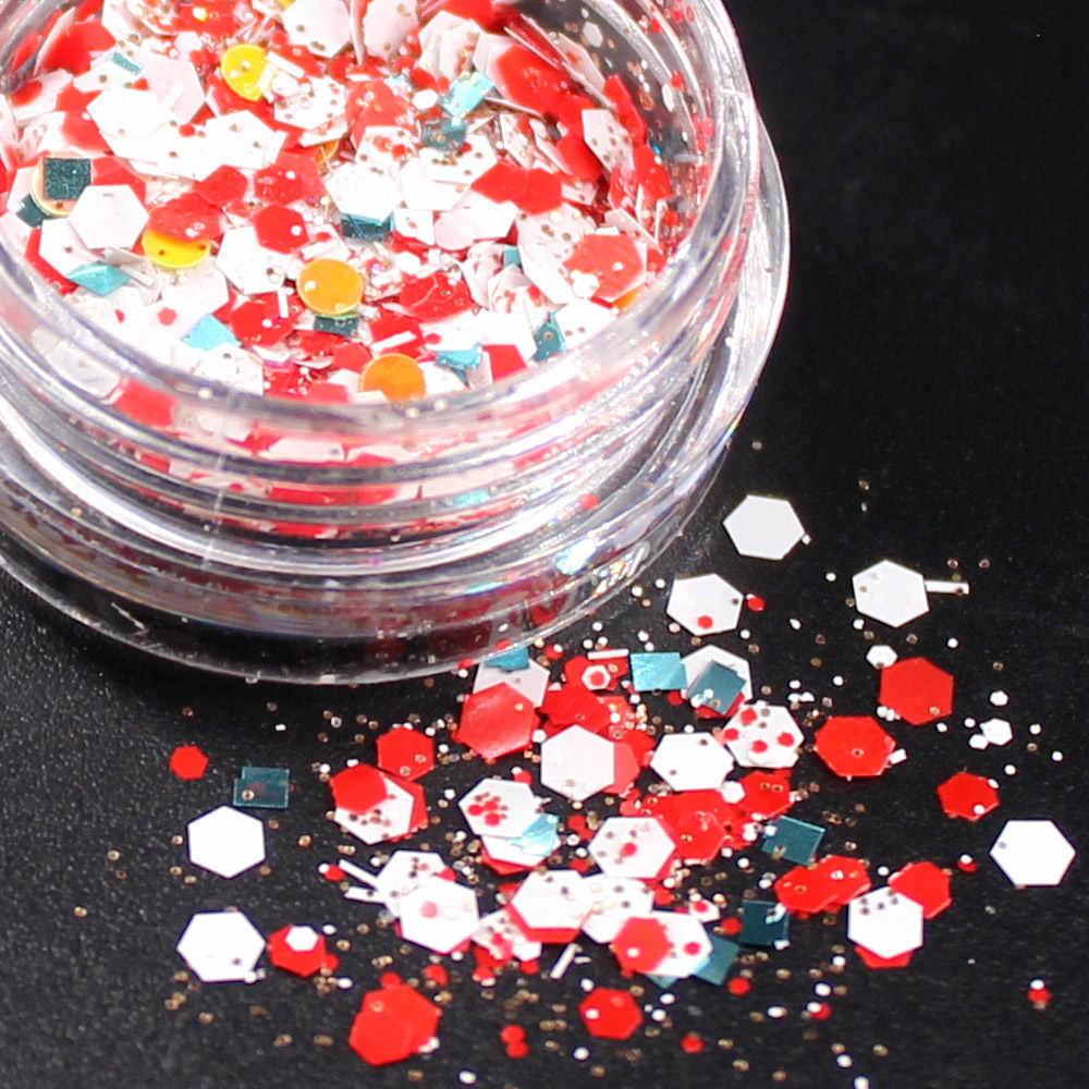 1 בקבוק לבן הכסף גליטר צלליות 9 צבע גליטר עיני צבעים מונוכרום עיני שמר אבקת איפור כלי פסטיבל פנים z7