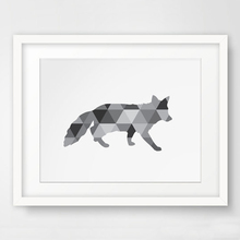 Fox Wall Art Print Art Canvas Poste, Geometric Fox Print, Tribal Animal Art  Prints,  Modern Nursery Decor, Frame Not included футболка print bar christmas fox