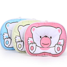 Hot selling Infant bedding print bear oval shape 100% cotton Baby Bear pillow high quality YYT090