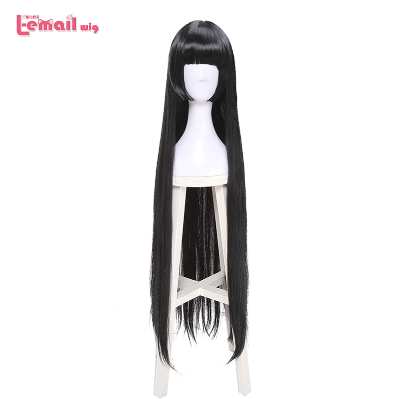 L-email Wig Kakegurui Yumeko Jabami Cosplay Wigs Long Black Straight Cosplay Wig Halloween Heat Resistant Synthetic Hair
