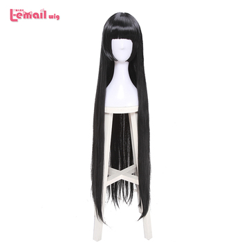 L-email wig Kakegurui Yumeko Jabami Cosplay Wigs Long Black Straight Cosplay Wig Halloween Heat Resistant Synthetic Hair l email wig game fate stay night rin tohsaka cosplay wigs long wavy heat resistant synthetic hair perucas cosplay wig