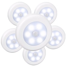 SOLLED LED Infrared PIR Motion Sensor Battery Powered 6 led Night Light Wireless Detector Wall Lamp for Closet Cabinet