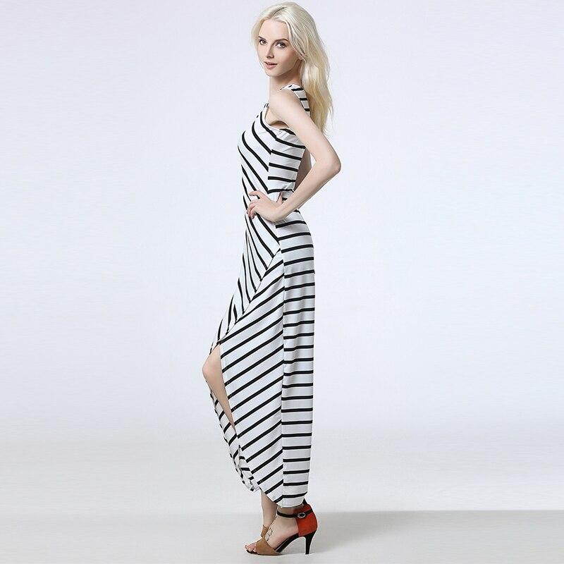 adbaaa419e 2017 letnie sukienki w paski damskie moda szczupła ubrania praca dorywcza  dress dla pani starsza bez rękawów suknie eleganckie ubrania w 2017 letnie  ...