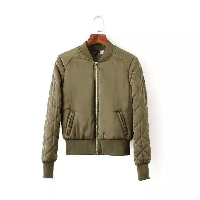 hipster army green casual fashion baseball jacket women coats 2015 ...