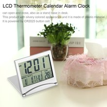 цена на New Digital Lcd Display Thermometer Calendar Alarm Clock Flexible Cover Desk Clock Modern Design