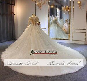 Image 2 - Gelinlik vestido de noche volledige kralen luxe sparkling bling bling trouwjurk amanda novias echte werk