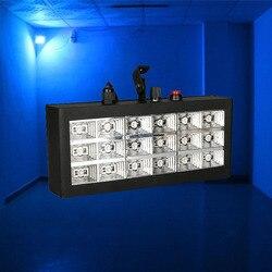 30W aktywowane głosem Led DJ światła sceniczne 18 sztuk RGB oświetlenie stroboskopowe Bar światło lampy błyskowej lampa LED RGB klub Party efekty sceniczne w Oświetlenie sceniczne od Lampy i oświetlenie na