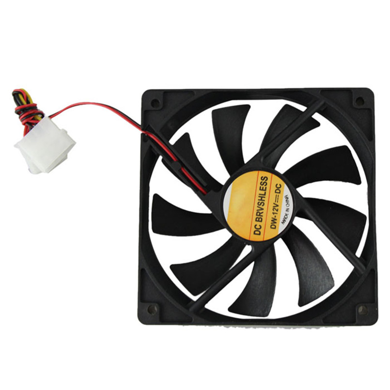 Reliable 2017 hot Computer Case Cooler 12V 12CM 120MM PC CPU Cooling Cooler Fan motherboard with a 4-pin Molex connector free delivery 9025 9 cm 12 v 0 7 a computer cpu fan da09025t12u chassis big wind pwm four needle