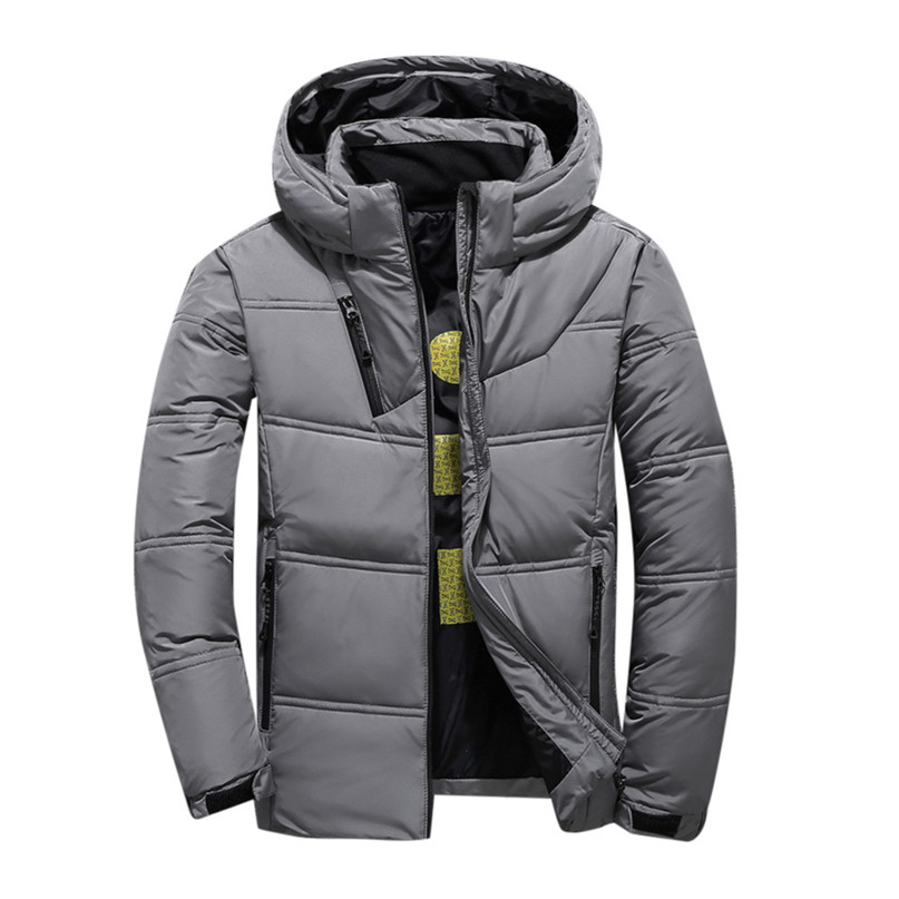 2018 New Winter Coat Men Down Jacket Outdoor Men's Thickening Short Body Slim Jacket Warm hooded Snowboard Ski jacket #2o22#F