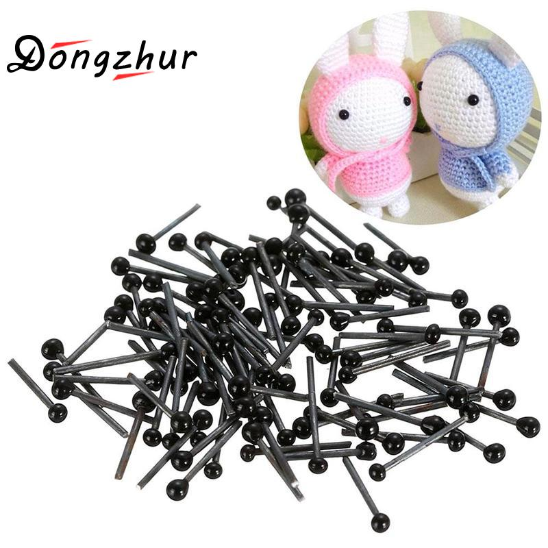 50pcs 2/3/4mm Needle Felting Glass Eyes Sewing Craft Tools For Dolls Making Kids Manual Diy Accessories Simulation Eyes