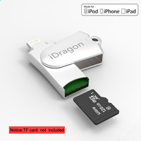 Metal High Quality USB Card Reader TF Micro SD Card OTG USB Adapter Lightning USB Adapter
