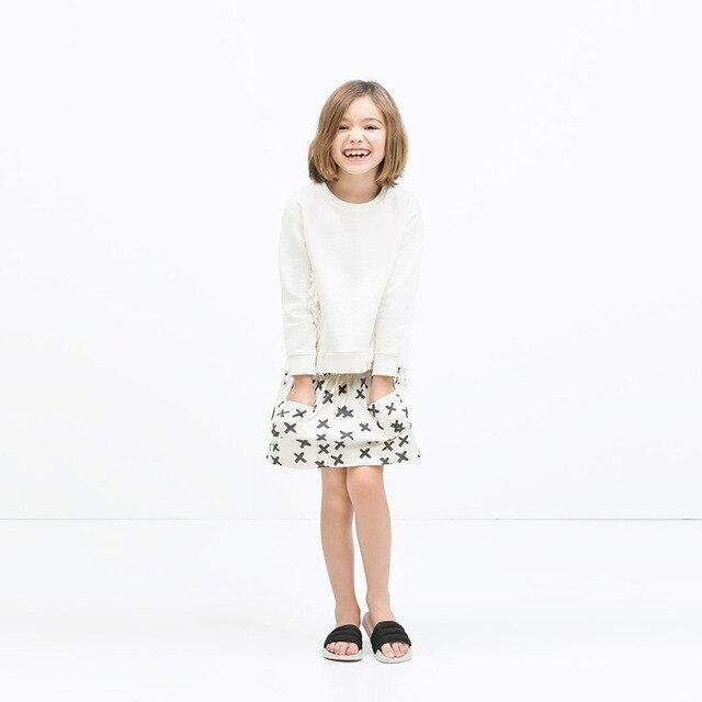 Дети юбки 2017 новая весна девочка юбки spical печатные дети юбка для девочек double hand pocket бальное платье юбки
