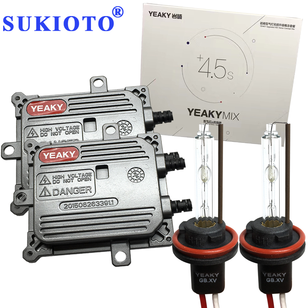 SUKIOTO Fast Xenon Kit Yeaky h1 H3 H7 HID Kit xenon H11 5500K 45W YEAKY MIX 9005 9006 yeaky lighting hid xenon conversion kit 9005 3000k hid conversion kit xenon headlights upgraded version