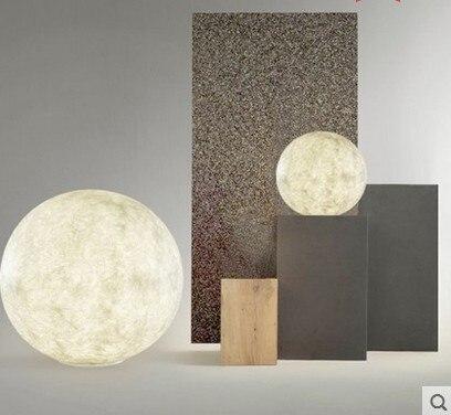 3D imprimir Luna lámpara de mesa 2 cambio de Color Interruptor táctil para dormitorio estantería Decoración Luz De noche regalo creativo - 4