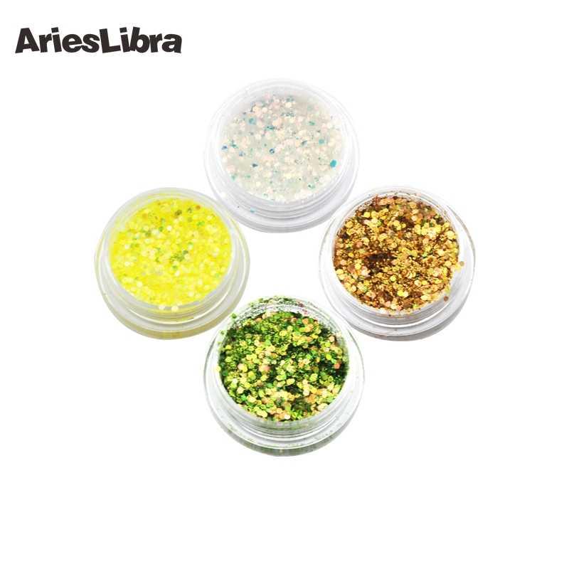 AriesLibra 12 หม้อ/ชุด GLOSS Glitter เล็บฝุ่น Glitter อะคริลิคผงสีผงสำหรับเล็บเคล็ดลับ Art สำหรับอุปกรณ์เสริมเล็บ