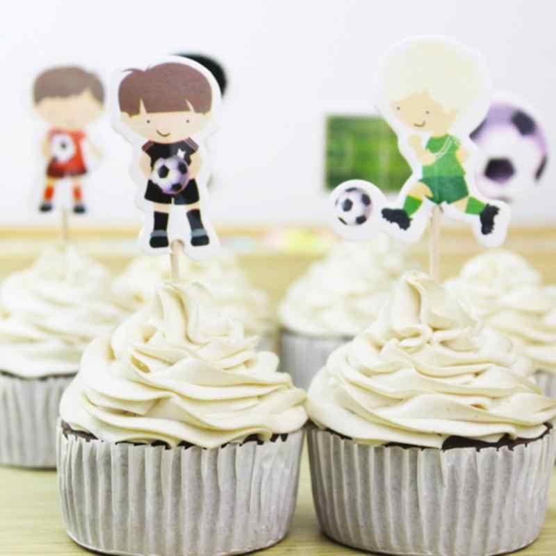 24 יח'\חבילה כדורסל בצורת עוגת קיסם Toppers עוגות יום הולדת גבתון דגל מקלות ערכת יום הולדת חתונה ספק דקור