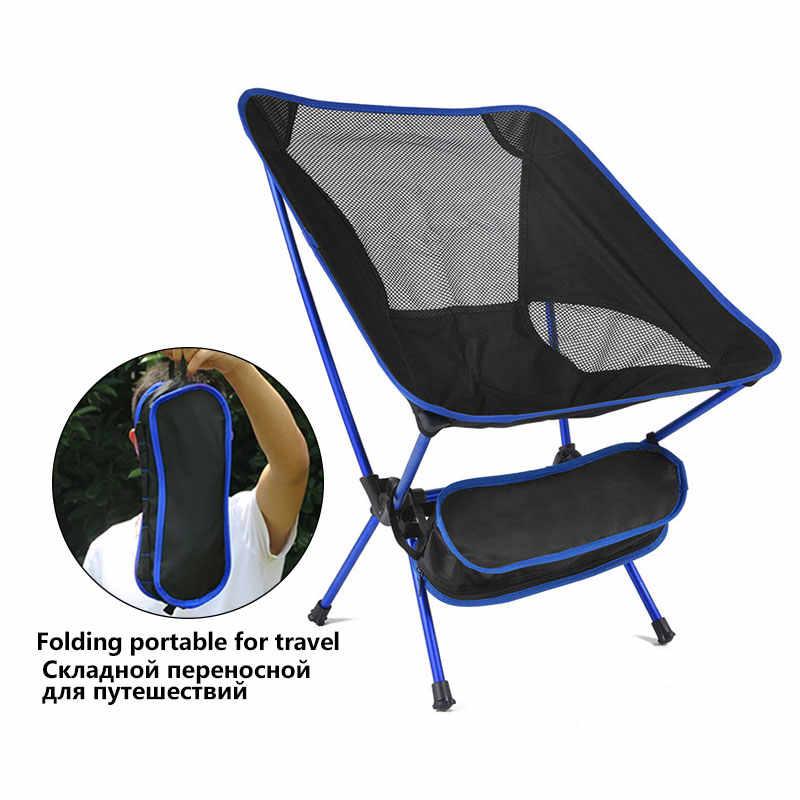 Ultra Light Lipat Memancing Kursi Kursi untuk Berkemah Di Luar Ruangan Rekreasi Piknik Kursi Portabel Dilipat Kursi Bulan Memancing Camping
