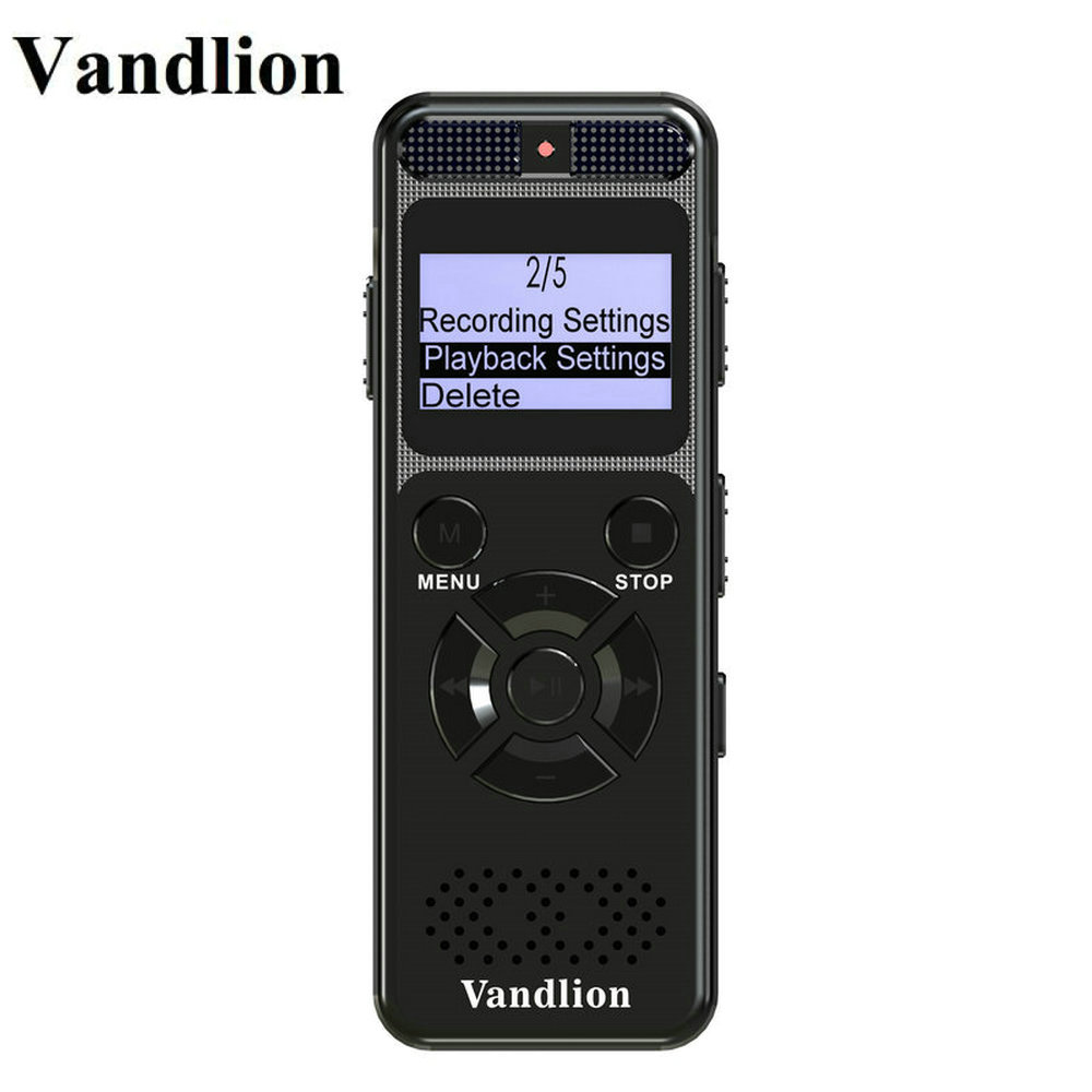 Vandlion Digital Audio Voice Recorder 8GB 16GB Professional Portable Recorder MP3 For Business Support Up to 64G TF Card V32 noyazu d35 professional camcorder audio recorder portable digital voice recorder usb support multi language tf card up to 32gb