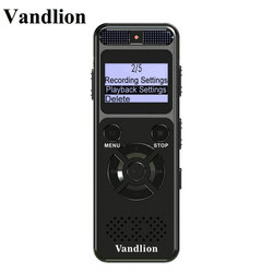 Vandlion Digital Audio Voice Recorder 8GB 16GB Professional Portable Recorder MP3 For Business Support Up to 64G TF Card V32