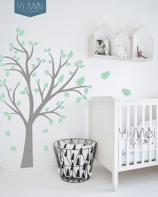 Papel pintado bebé pared del cuarto árbol y Aves dormitorio salón ...