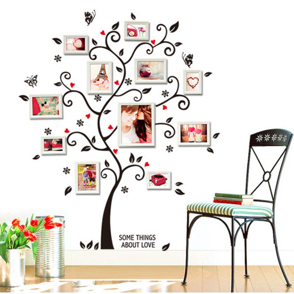 Latest 100cm 120cm Photograph Frame Wall Sticker Home Decor Family Tree  Stickers on Wall Name Decal Stick for Living Room. Stick Names Reviews   Online Shopping Stick Names Reviews on
