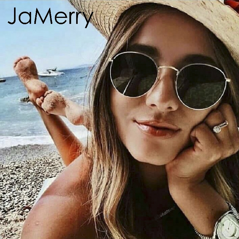 Genteel Jamerry Vintage Fahsion Sunglasses Women Summer Beach Holiday Round Party Accessories Sunglasses Luxury Brand Sun Glasses 2019 Sales Of Quality Assurance Apparel Accessories Women's Glasses