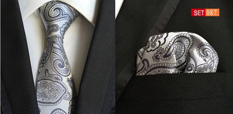 8 см уникальный набор галстуков с карманом квадратным твердым желтым галстуком - Цвет: Picture Color