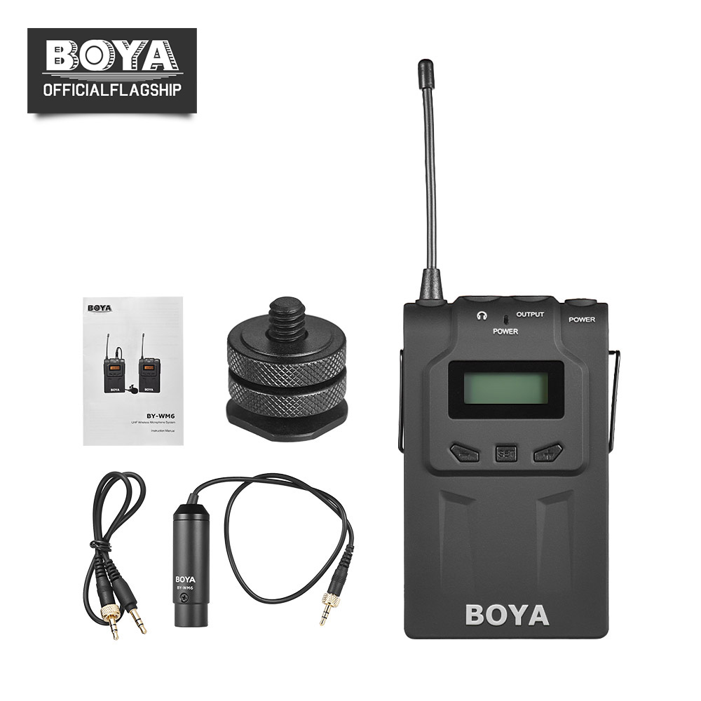 BOYA BY-WM6R UHF Wireless Microphone Mic Receiver 576MHz-599MHz 48 Chs for ENG EFP for Canon Nikon Sony DSLR Cameras Camcorders mac eng 6 fluency bk