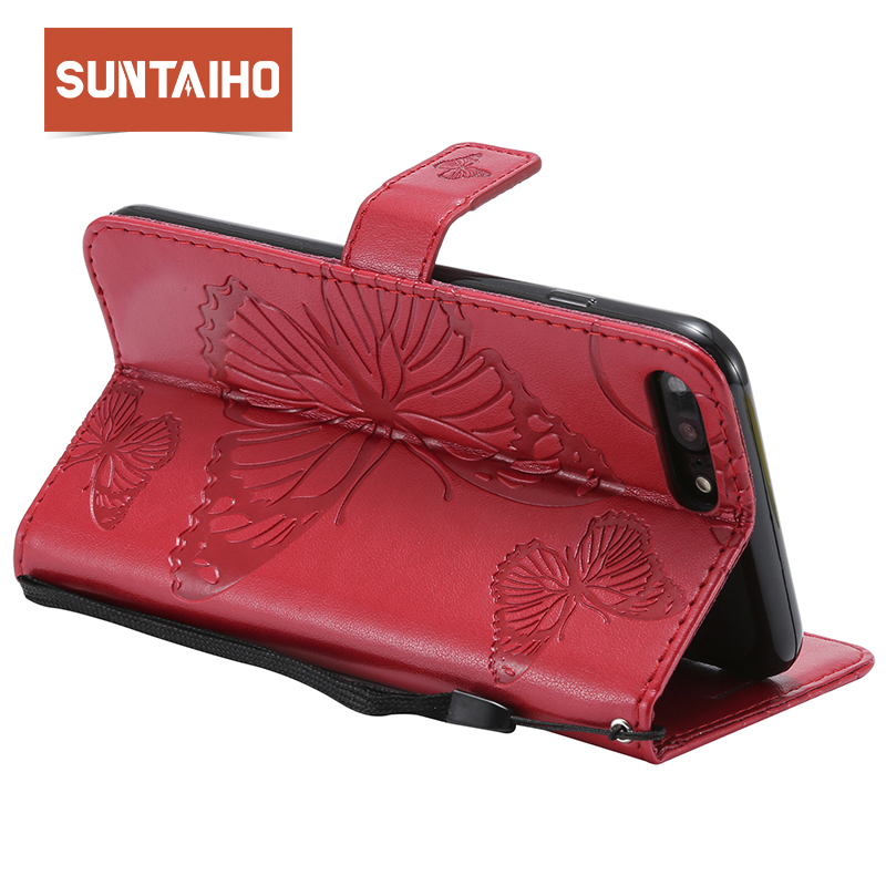 Suntaiho Case for iphone X cover for iphone 6s Plus case for iPhone 7Plus PU Leather Phone Case for iPhoen 8Plus Pocket Wallet 5