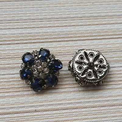 Wholesale 10 pieces New High grade metal Blue Rhinestone Overcoat coat  Buttons jacket shirt Sweater button 2d487282729d