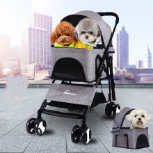 Separable foldable lightweight dog baby stroller partable Increased pet with car seat