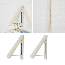 Useful Stainless Steel Wall Hanger Retractable Indoor Clothes Magic Foldable Drying Rack Waterproof Towel