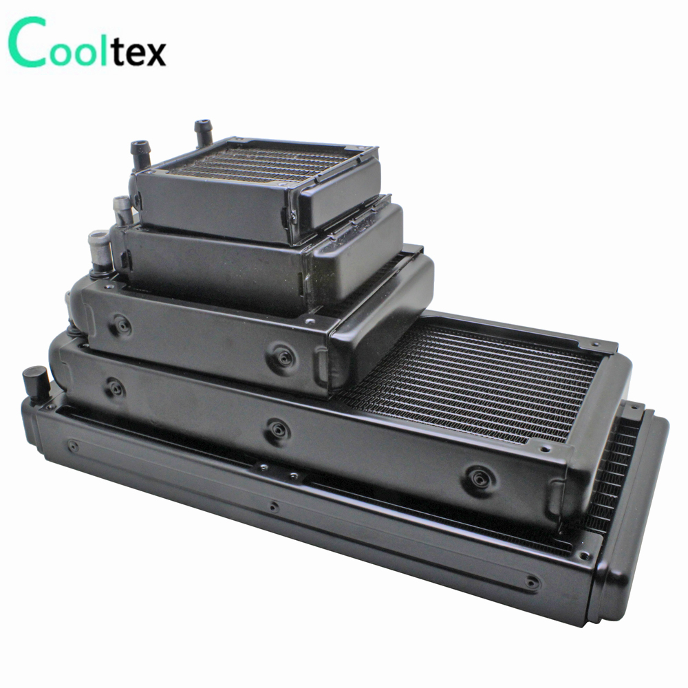 100%new 80/90/120/240/280mm water cooling radiator cooled cooler for computer CPU industrial Laser Heat Exchanger heatsink