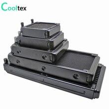 100%new 80/90/120/240/280mm water cooling radiator cooled cooler for computer CPU industrial Laser Heat Exchanger heatsink