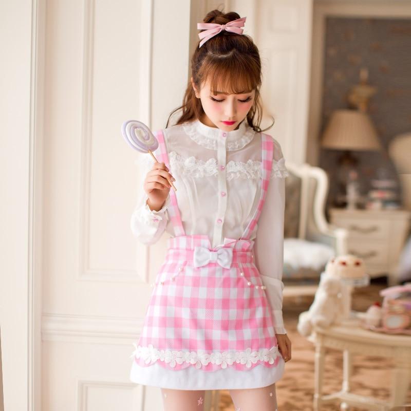 Princess sweet lolita skirt Candy rain Autumn new sweet Got-up figure Braces skirt students Show thin College style C16CD6147