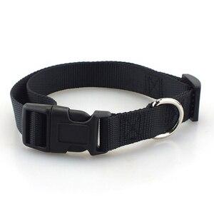 Image 3 - Collar de perro para mascotas Collar de perro de Nylon de poliéster liso básico clásico con hebilla rápida a presión, puede combinar Correa y arnés