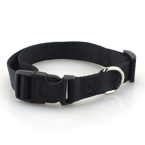 Image 3 - Pet Dog Collar Classic Solid Basic Polyester Nylon Dog Collar with Quick Snap Buckle, Can Match Leash & Harness