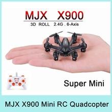 Free Shipping RC airplane MJX X901 Nano G-sensor quadcopter 2.4G 6 Axis RTF mini drone VS MJX X600 MJX X800 gift for children