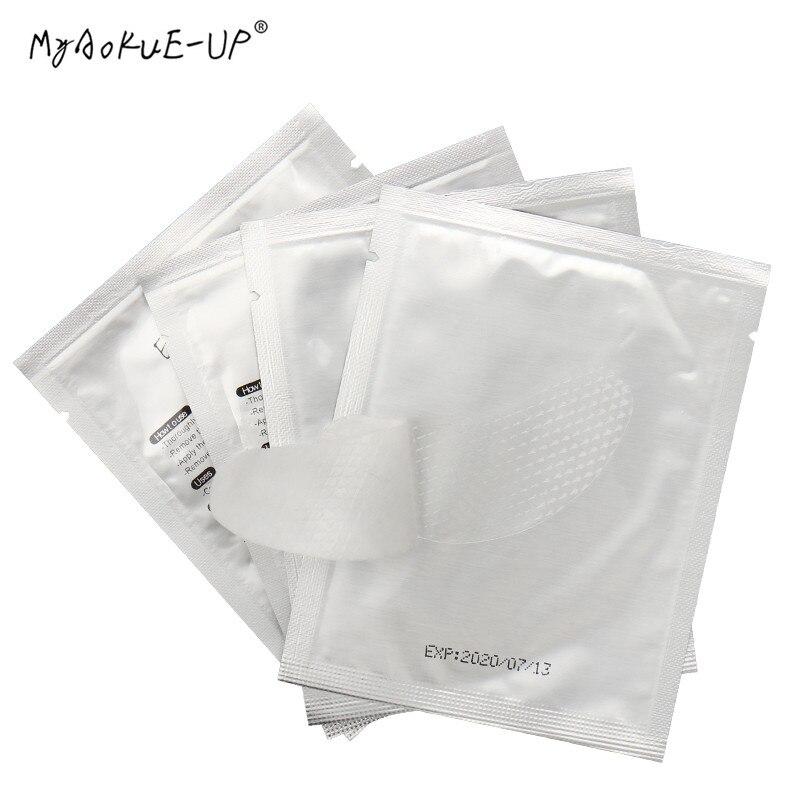 200 pares lote remendos de papel de cilios para ferramentas de maquiagem de extensao de cilios
