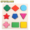 UTOYSLAND Wooden Educational Toys Learning Geometry Building Puzzle Montessori Method for Baby Kids