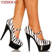 6779ce61e24a new arrive fashion sexy women platform stilettos 6 inch high heel zebra  pumps and lace 15cm