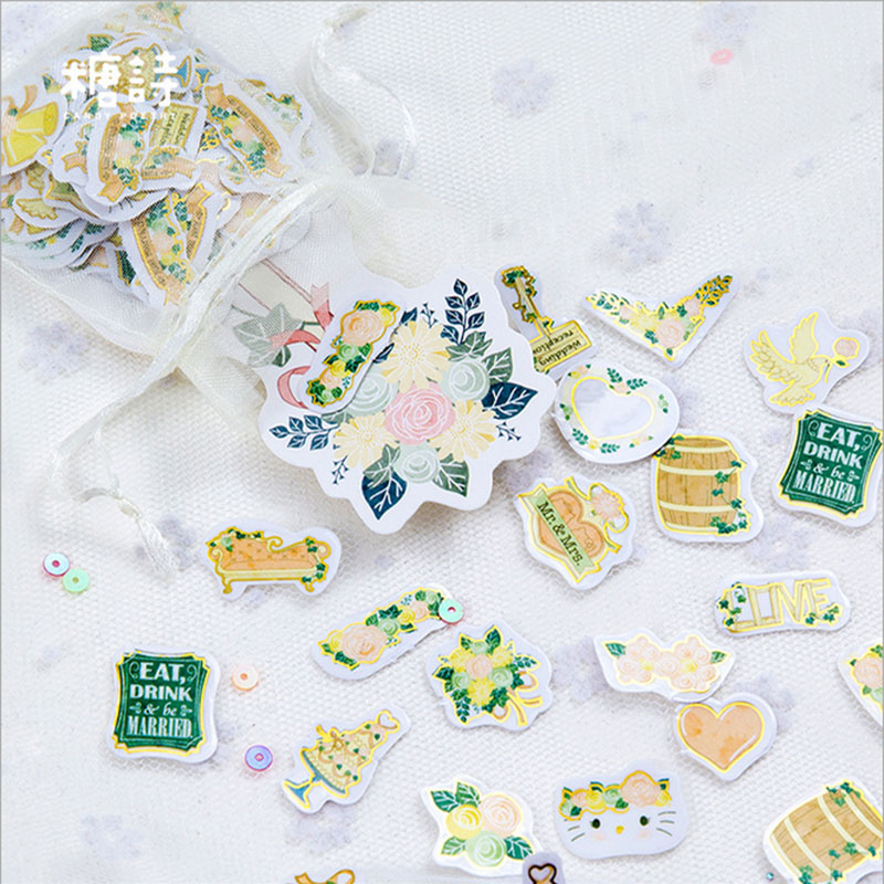 100 pcs/ lot Flowers dreams t mini paper sticker DIY diary decoration sticker planner scrapbooking kawaii school stationery