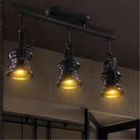 Creative Track Light Industrial Ceiling Hanging Lamp Loft Living Dining Room Chandelier Bar Party LED Shooting Lighting Decor