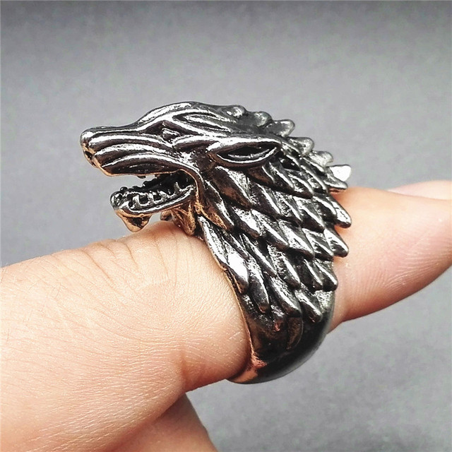 """Ice Wolf House Stark Of Winterfell"" Ring  1"