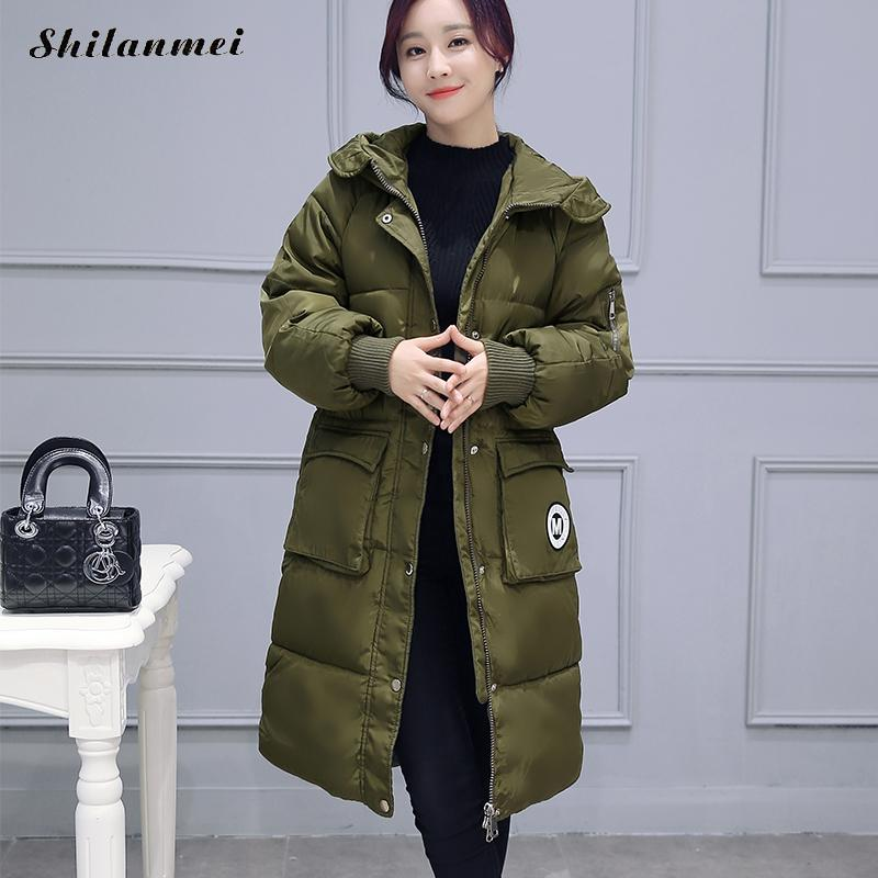Women Winter Collection Coat Jacket Warm Woman Parkas Female Overcoat 2017 High Quality Quilting Cotton Big Pockets Outerwear women winter coat jacket warm woman parkas big fur collar female overcoat high quality thick cotton coat 2017 new winter parka