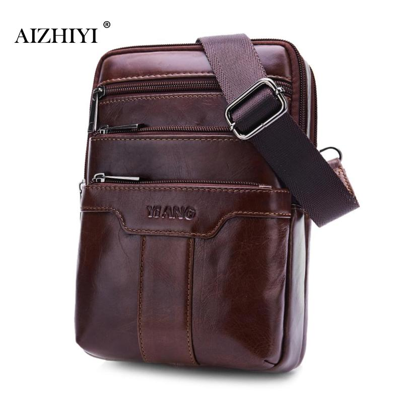 5eadef001b Casual Men Soft Leather Chest Bags Male Solid Shoulder Bag Travel ...