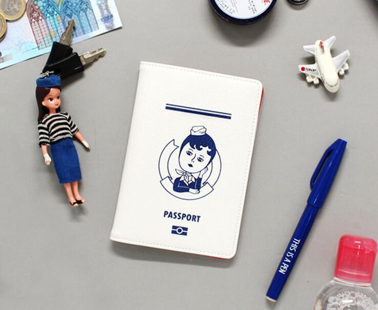 Korean Fashion Style Businessmens Travel Passport Cover Fresh Simple Women Passport Hold ...